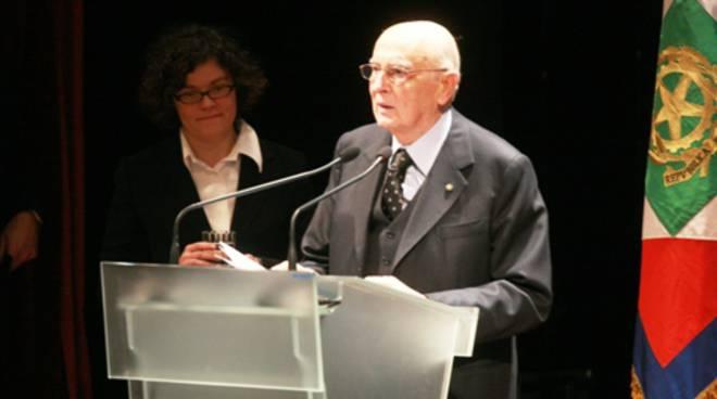 Il presidente Napolitanoal Teatro Donizetti / 1