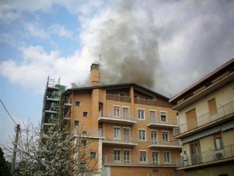 Incendio a Gorlago