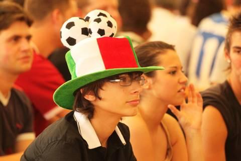 Italia, la delusione dei tifosi alla Trucca