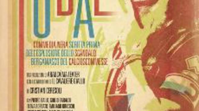 La locandina di Fùbal, con l'immagine di Cristiano Doni