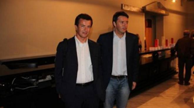 Matteo Renzi a Bergamo con Giorgio Gori