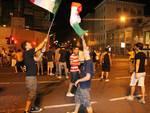 Italia in semifinale, festa in centro