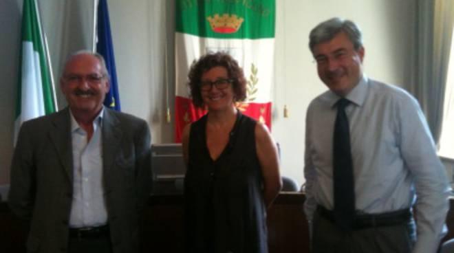 Da sinistra: Aldo Blini, Luigia Degeri e Giuseppe Pezzoni