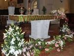 altari fioriti nelle chiese di Bergamo