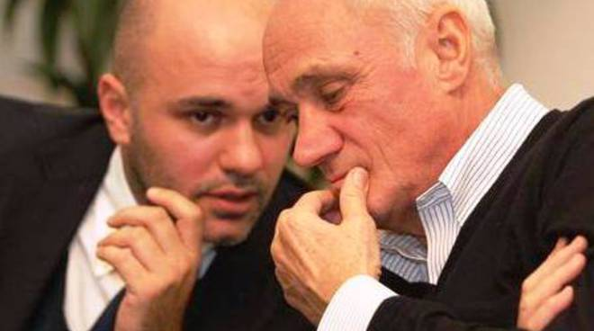 Antonio Percassi a colloquio col figlio Luca
