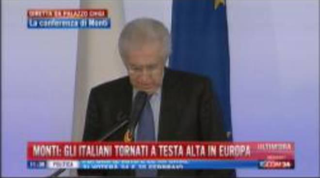 la conferenza stampa di Monti