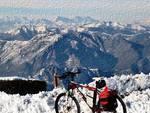 In bici sulle nevi della Valle Imagna