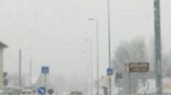 Nevicata e scuole a Bergamo