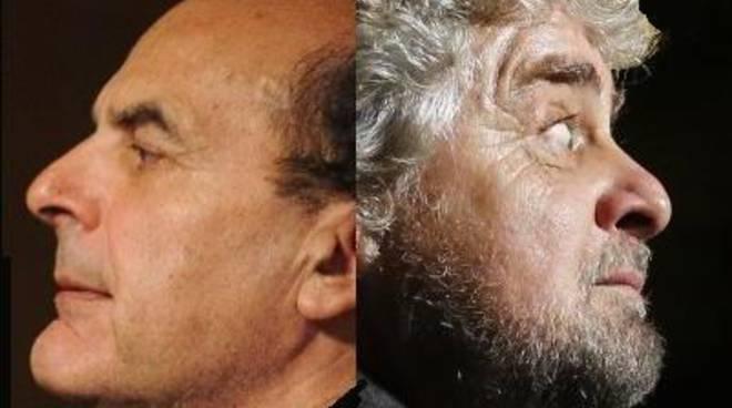 Pierluigi Bersani e Beppe Grillo