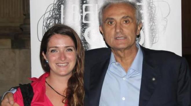 Martina Caironi con Pietro Mennea