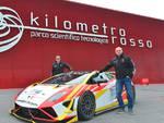 Davide Stancheris e Roberto Sorti con la Lamborghini al Kilometro Rosso