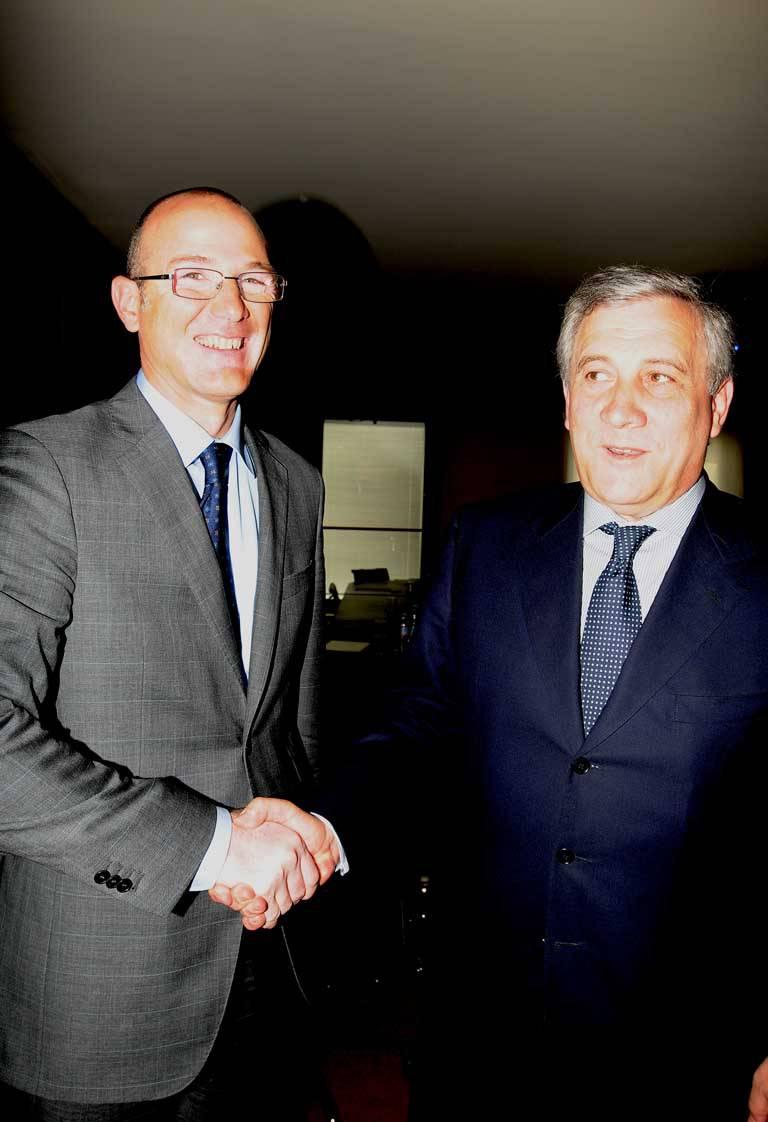 Antonio Tajani in Confindustria Bergamo