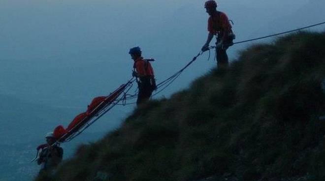 I volontari del soccorso alpino