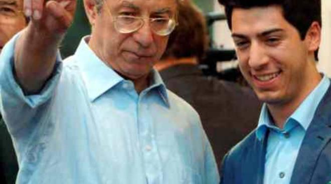 Umberto Bossi e il figlio Renzo