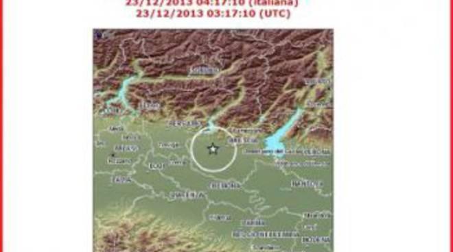 Ecco dove c'è stata la scossa di terremoto lunedì alle 4