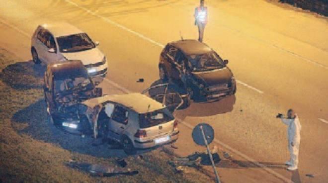 Il luogo dell'incidente a Chiuduno
