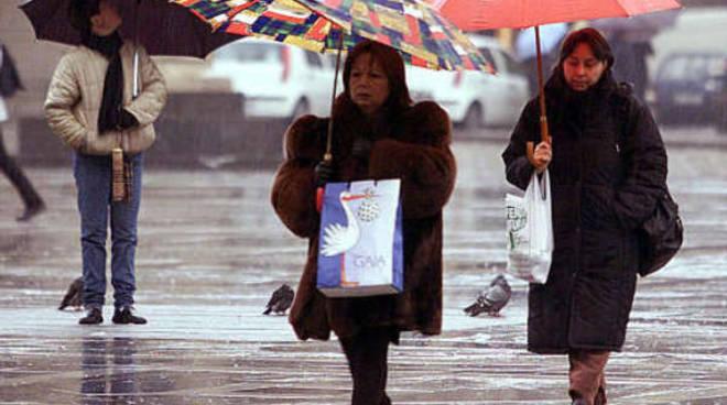 In arrivo altra pioggia e freddo nel weekend