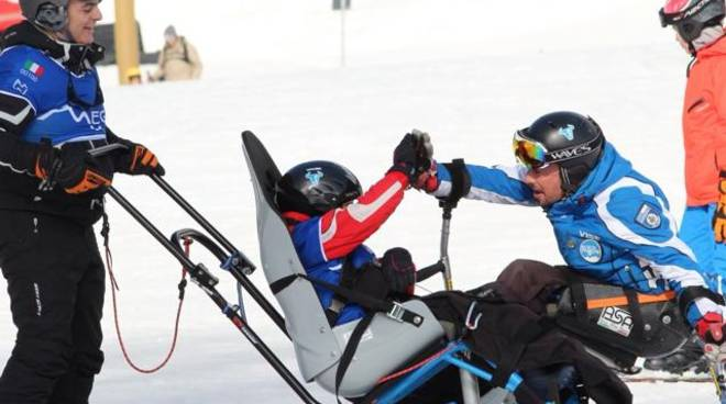 Mauro Bernardi sulla neve di Folgaria