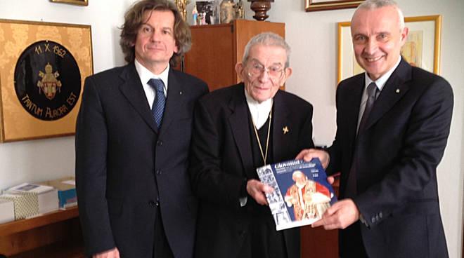 Paolo Agazzi, il cardinale Capovilla e Angelo Piazzoli