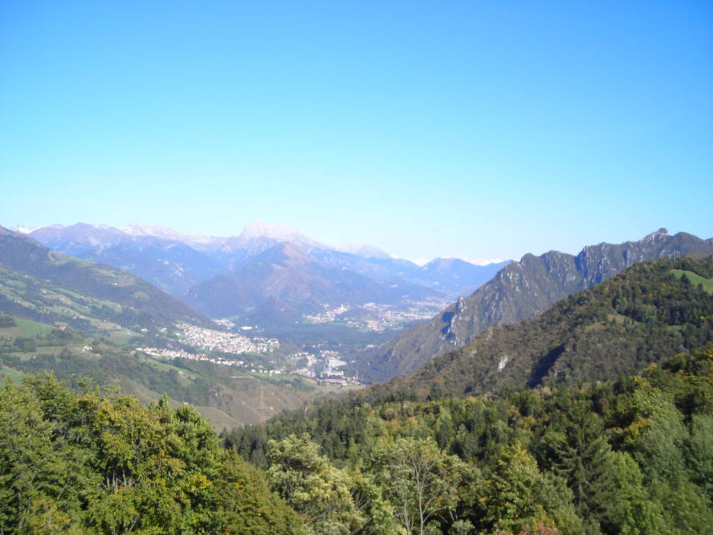 Spettacolari vedute sulle Orobie dall'altopiano di Bondo di Colzate