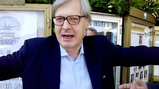 Vittorio Sgarbi candidato a Fontanella