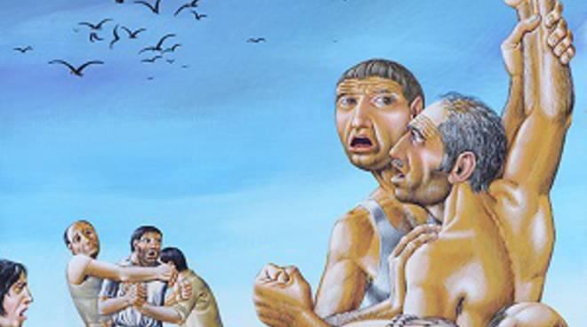 Una della opere esposte alla mostra di Casa Ceresa  a San Giovanni Bianco