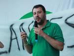 Salvini al presidio contro i profughi