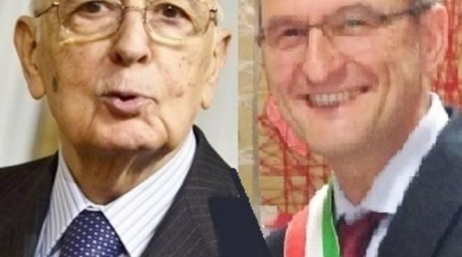 Giorgio Napolitano e Stefano Gamba