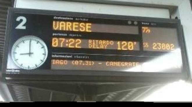 Il ritardo del treno