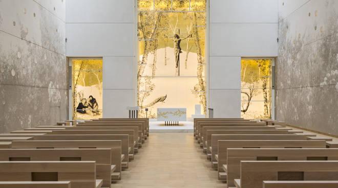 La nuova chiesa dell'ospedale Papa Giovanni XXIII