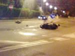 Un'immagine di uno dei due scooter a terra