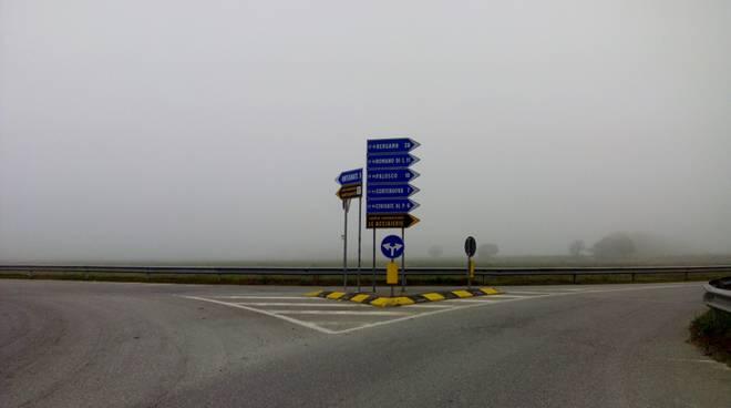 Nebbia in Bergamasca