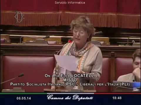 Pia Locatelli, deputata bergamasca