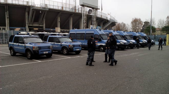 Atalanta-Avellino, 100 agenti allo stadio
