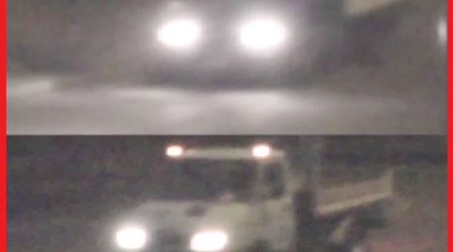 Il furgone di Bossetti ripreso dalle telecamere