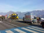 I soccorsi a Tavernola (Foto di Più Valli Tv)