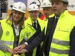 Il premier Matteo Renzi con Giampiero Pesenti, Carlo Pesenti e la moglie Federica Manzoni