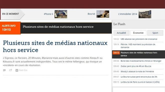 attacco informatico ai siti web dei media francesi