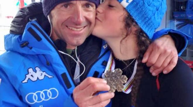Michela Moioli con l'allenatore Cesare Pisoni