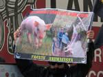 Contestazione animalista alla fiera delle capre
