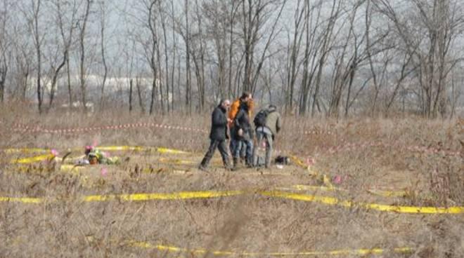 Il campo di Chignolo in cui è stata ritrovata senza vita Yara Gambirasio
