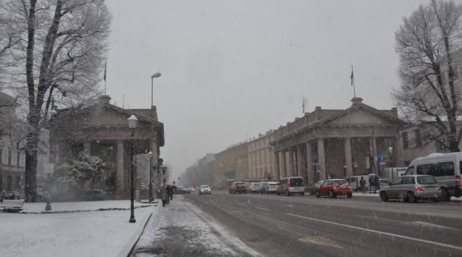 La nevicata del 5 febbraio a Bergamo