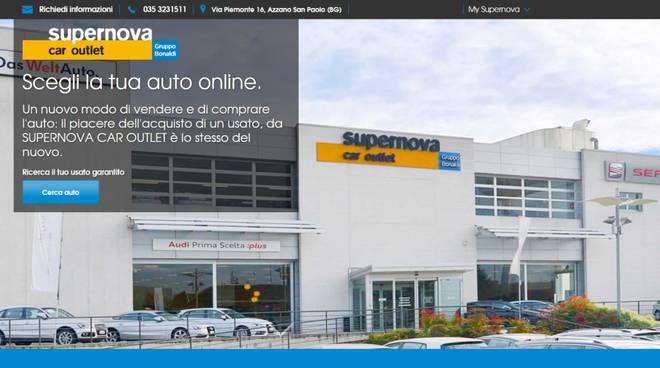 Nuovo sito per Supernova Il car outlet del Gruppo Bonaldi ...