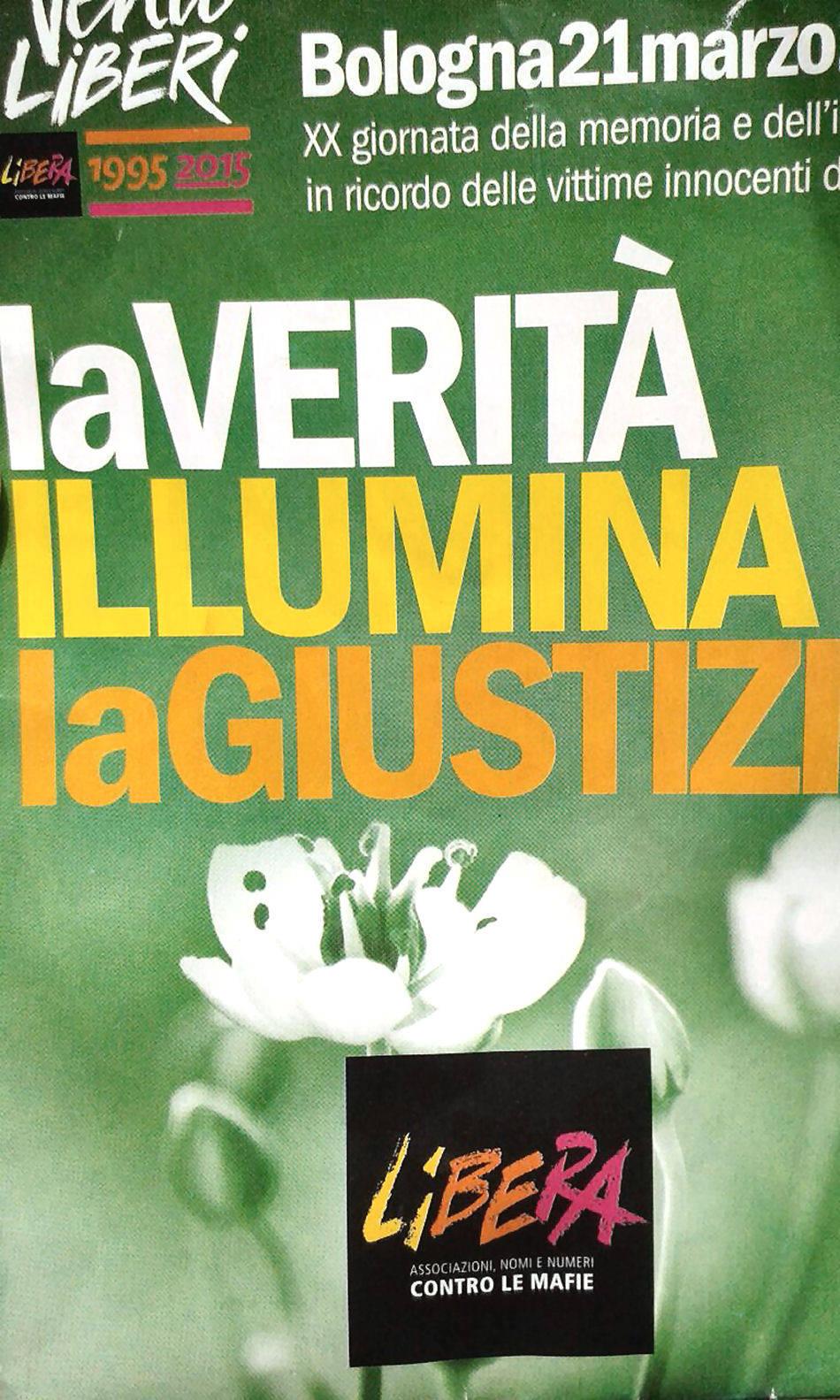 Betty Ambiveri di Presezzo a Bologna con Libera