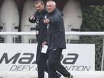 Edy Reja e il suo vice Sergio Porrini: mercoledì hanno diretto il primo allenamento a Zingonia