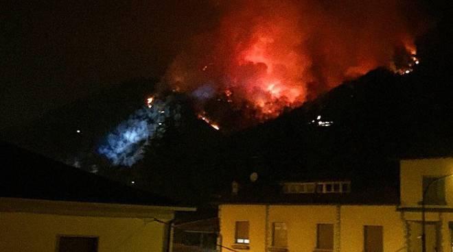 Incendio a Clusone