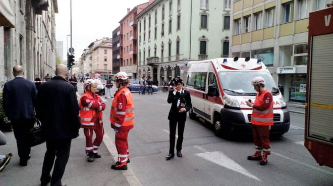 Bergamo, allarme bomba in via Camozzi