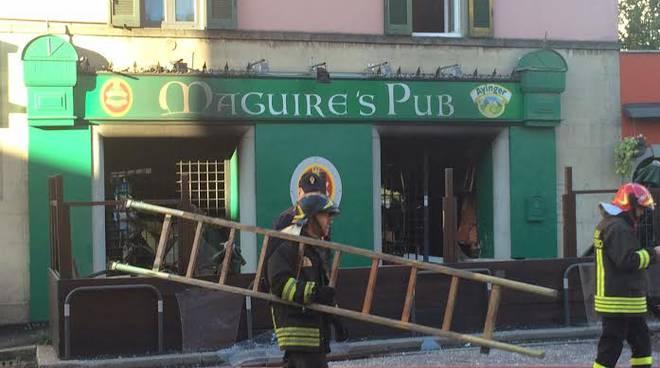 Esplosione al Maguire's pub