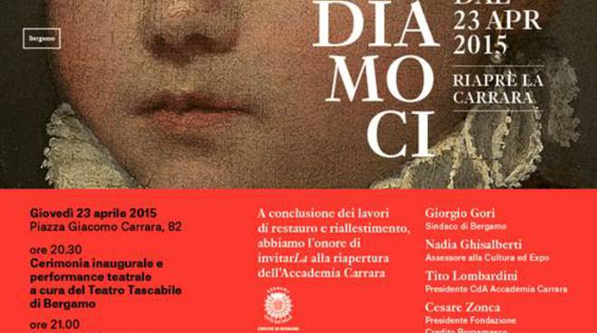 Festa a Bergamo per la riapertura della Carrara