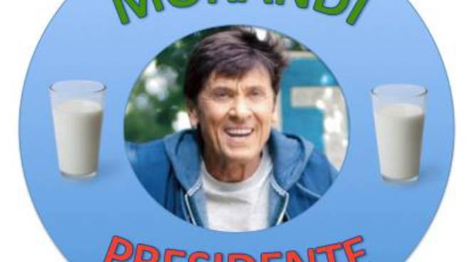 Il logo elettorale per Gianni Morandi Premier
